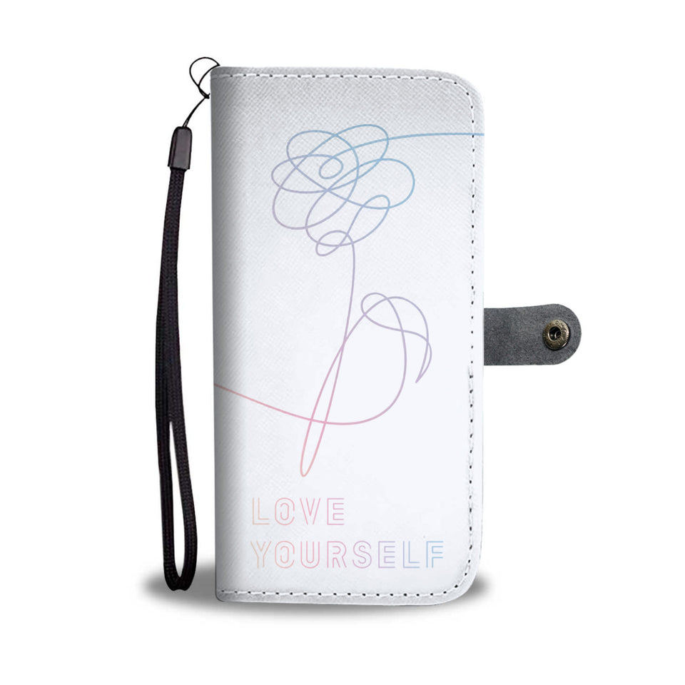 BTS Love Yourself Wallet Phone Case (White)