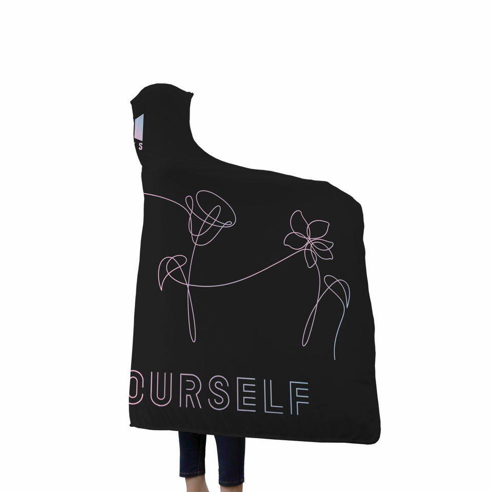 BTS Love Yourself Hooded Blanket