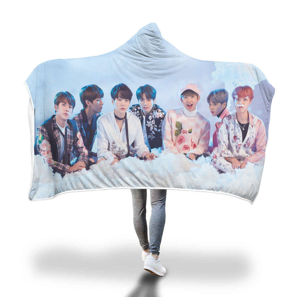 BTS Cloud Hooded Blanket