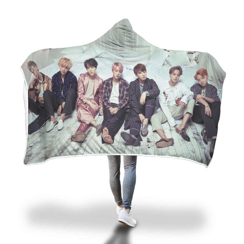 BTS WINGS Hooded Blanket