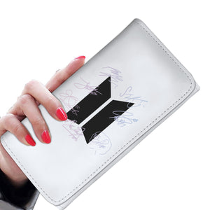 BTS Signature Women's Wallet (White)