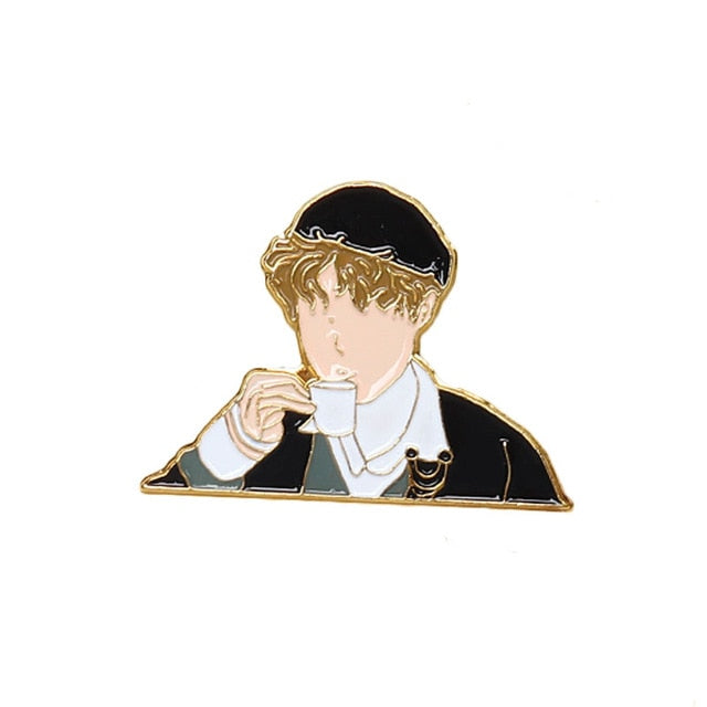 J-hope Coffee Brooch