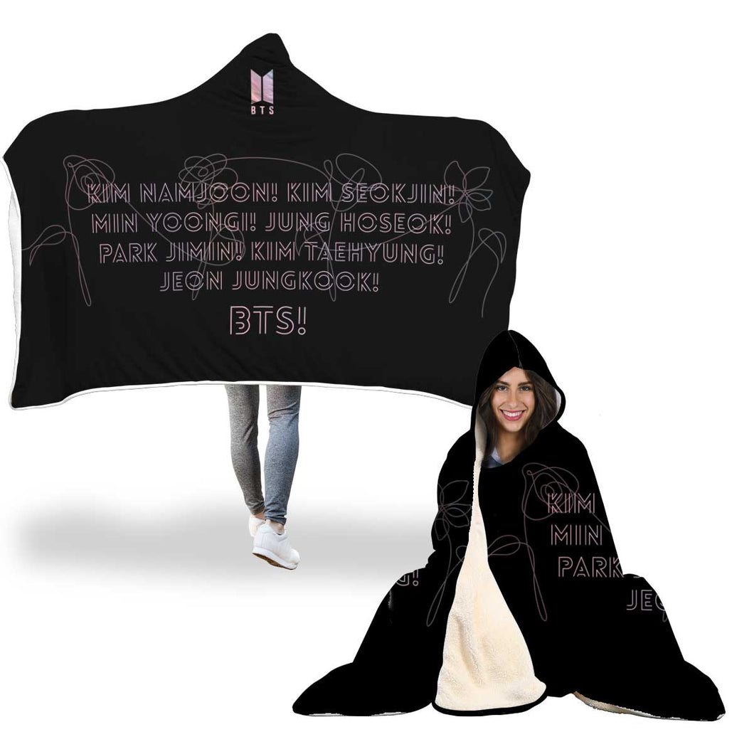 BTS Fan Chant Hooded Blanket