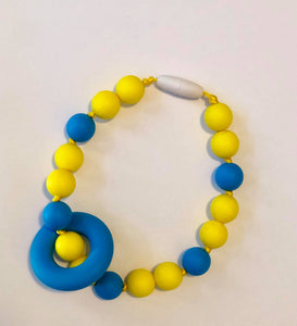 CHEWLERY TEETHER Accessory - Yellow/Blue