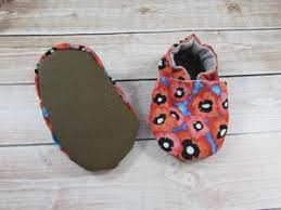 Red Poppy Baby Shoes, 18-24 months