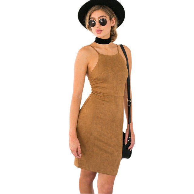 Sundance Suede Dress