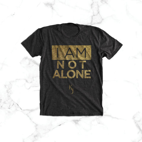 """I Am Not Alone"" Tee (black)"