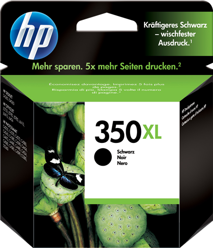 orginal blekhylki HP® 350 XL Black