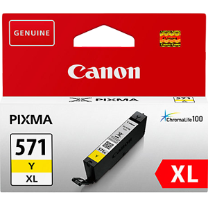 Orginal blekhylki Canon® CLI-571XLY Yellow, XL.