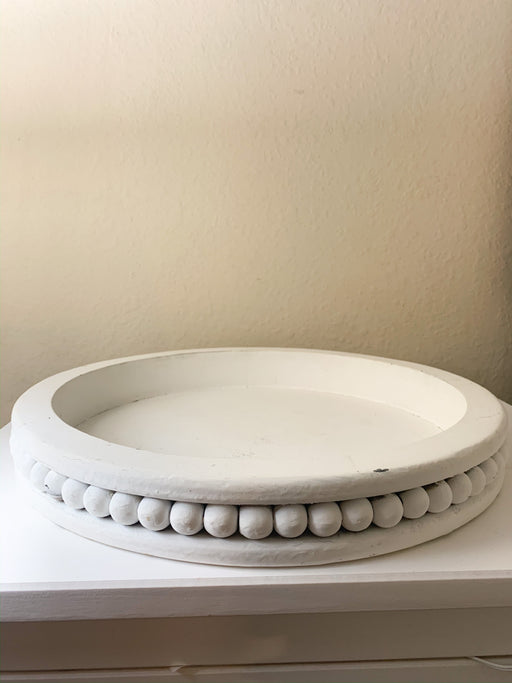 Distressed Farmhouse Round Tray