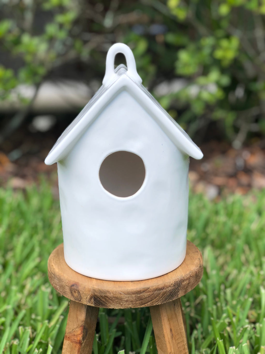 Ceramic Blank Round Roof Top Birdhouse By Kathy Diep
