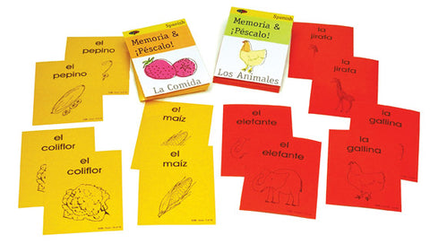 Spanish SSL Learn Elementary Curriculum Memory Game
