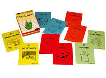 SSL Curriculum Beginner Flashcards Vocabulary Spanish for Elementary Grade Levels