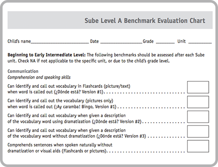 English Spanish Teach Benchmark Evaluation