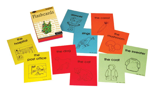 Teach ESL flashcards vocabulary intermediate grade 3-5