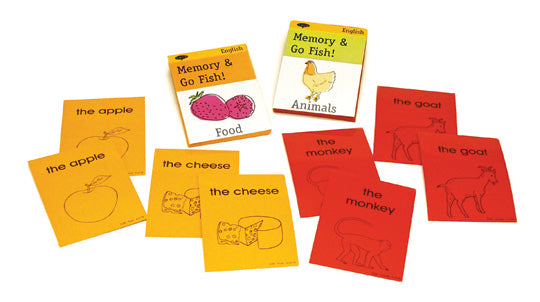 Teach English ESL memory card game go fish