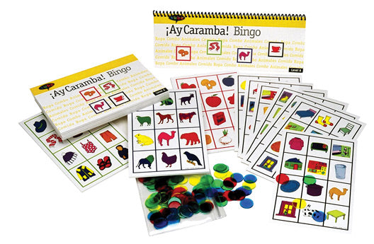 Learn Spanish Bingo Ay Caramba elementary beginner curriculum