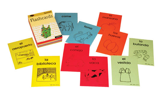 Teaching ESL and Spanish flascards SSL vocabulary Sube