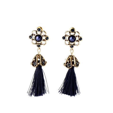 Royal Tassel Dangle Earrings