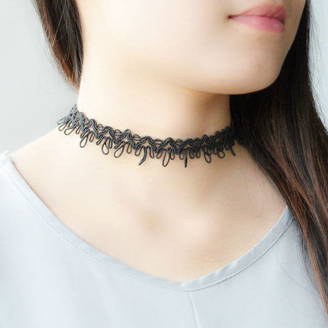 Black Rope Choker Necklace