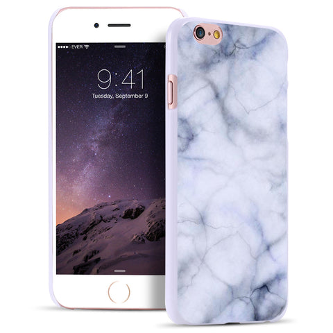 White Marble Case For Galaxy & iPhone 7
