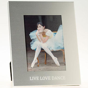 Picture Frame that say Live Love Dance on it