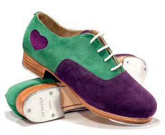 Suede in Green/Purple with Purple tongue