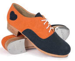 Suede in Orange/Navy with Navy tongue