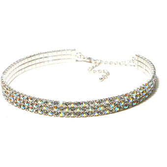 AB Rhinestone Choker Necklace