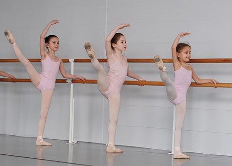 Young Dancers at the Barre