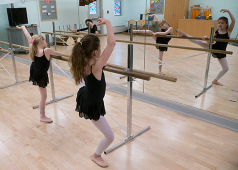 Beginner Dancers at the Barre