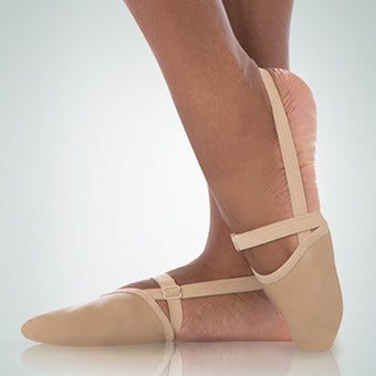 AOPEI Dance Half Sole Shoes Net Cloth Turning Shoes for Ballet Jazz Women