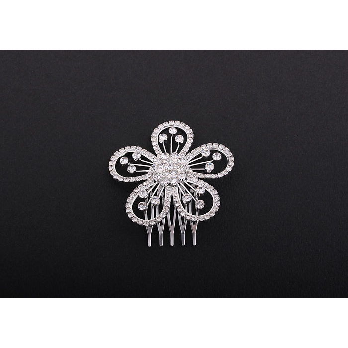 Rounded Flower Hair Comb