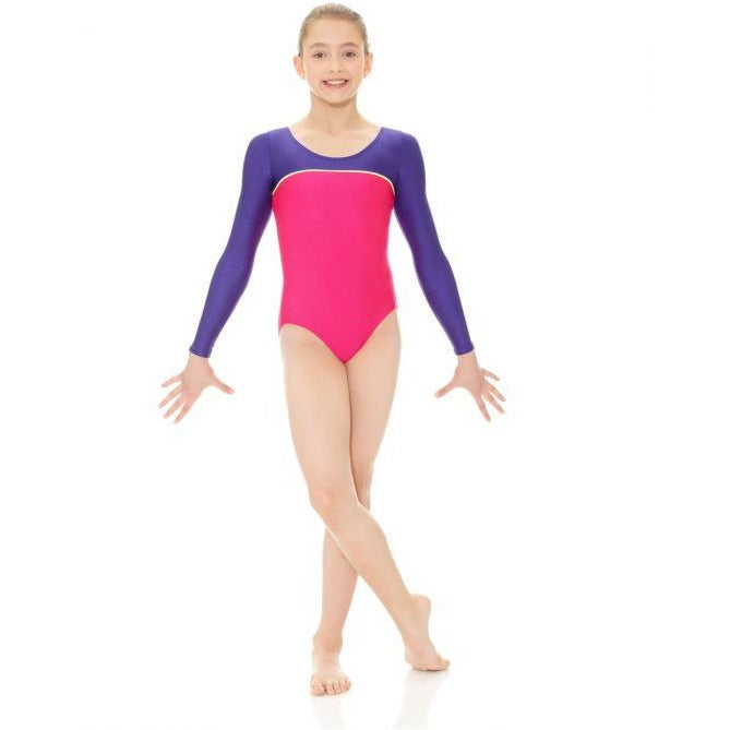 Two Tone Long Sleeve Leotard - Child