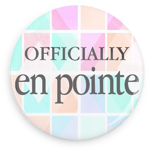Offically En Pointe Button - Colour Grid - Inspirations Dancewear