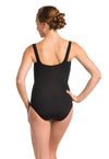 AinslieWear leotard with square neck in black - back