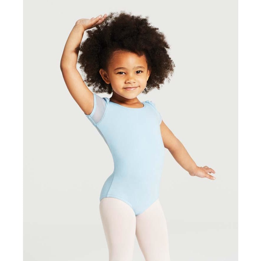Puff Sleeve Keyhole Leotard - Child