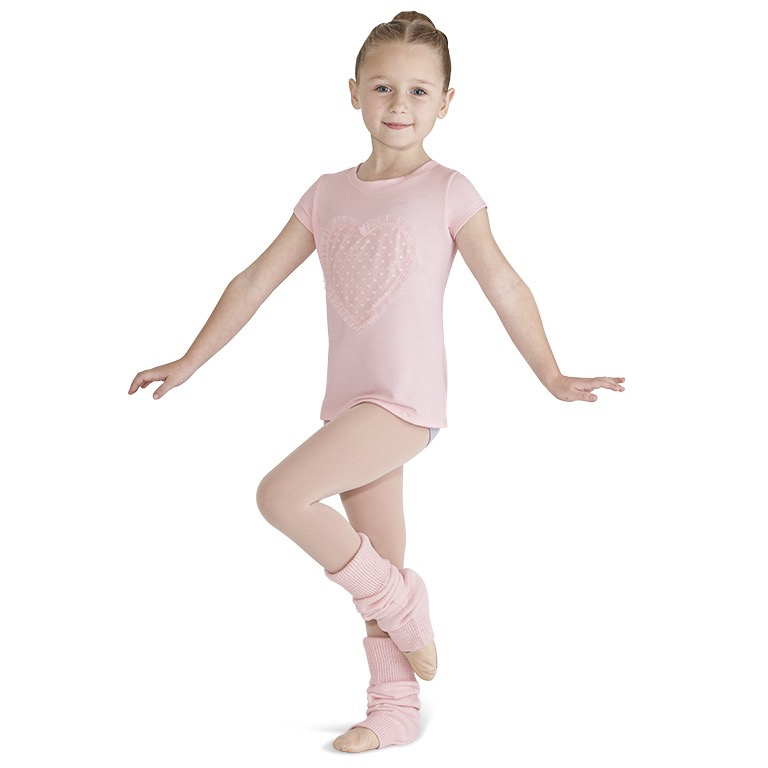 Heart Mesh Shirt - Child - Inspirations Dancewear
