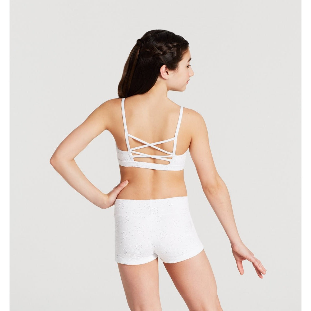 Eyelet Strappy Back Crop Top - Child