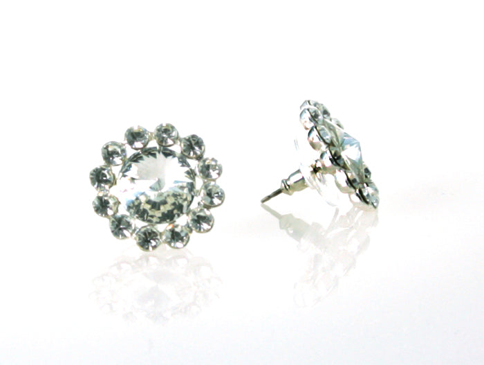 Flower Earrings - Pierced - Clear