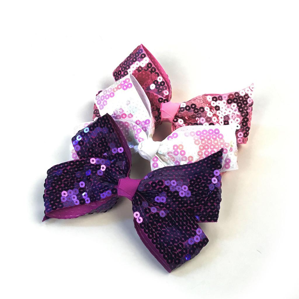Sequined Bow - Pink