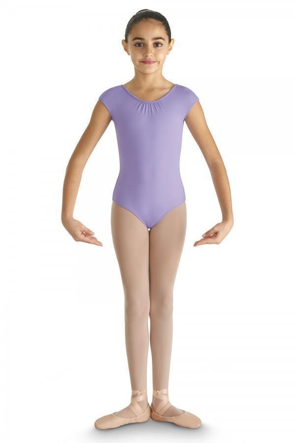 Pinched Front Mesh Heart Keyhole Back Leotard - Child