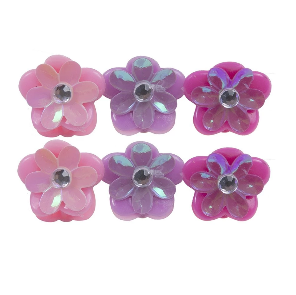 Fanciful Flower Mini Hair Clips