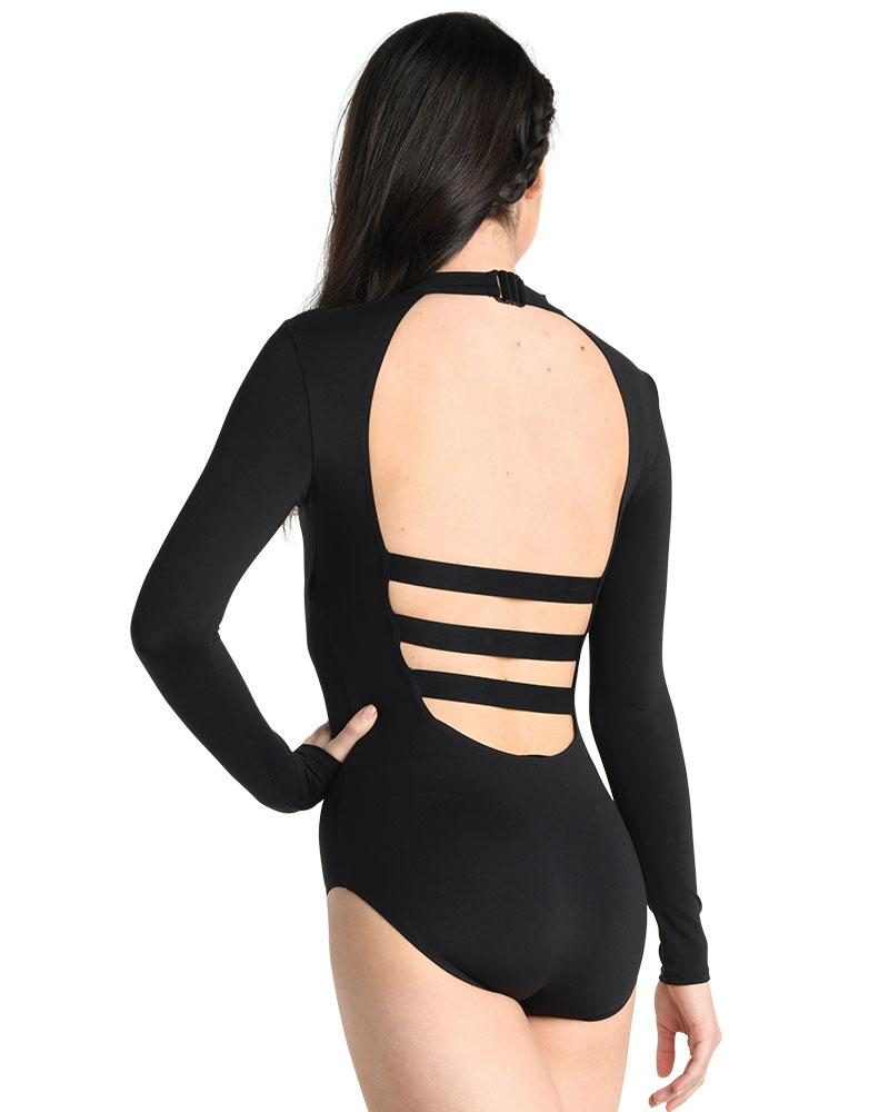 Cold Shoulder Long Sleeve Leotard - Adult