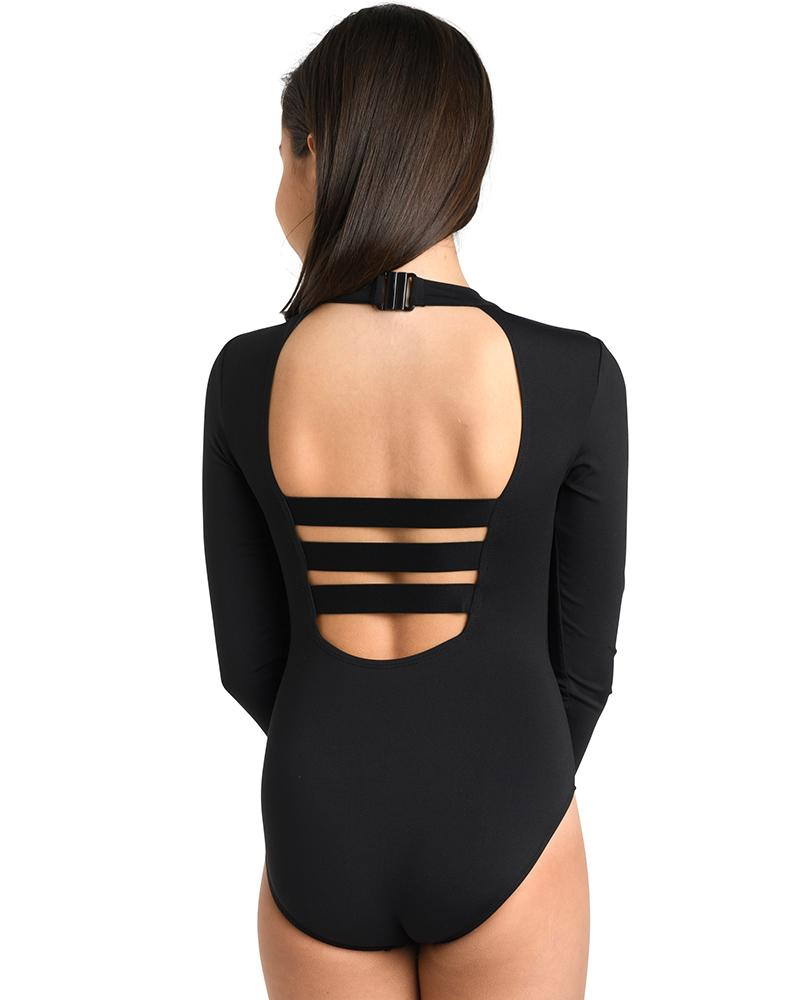 Cold Shoulder Long Sleeve Leotard - Child