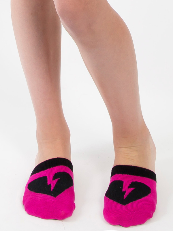 Spinners Half Socks - Hot Pink