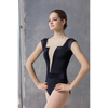 Mesh Cutout Cap Sleeve Leotard - Adult