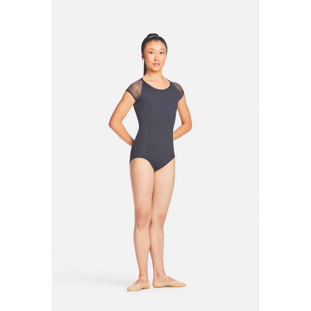 Raglan Lace Sleeve Leotard - Adult