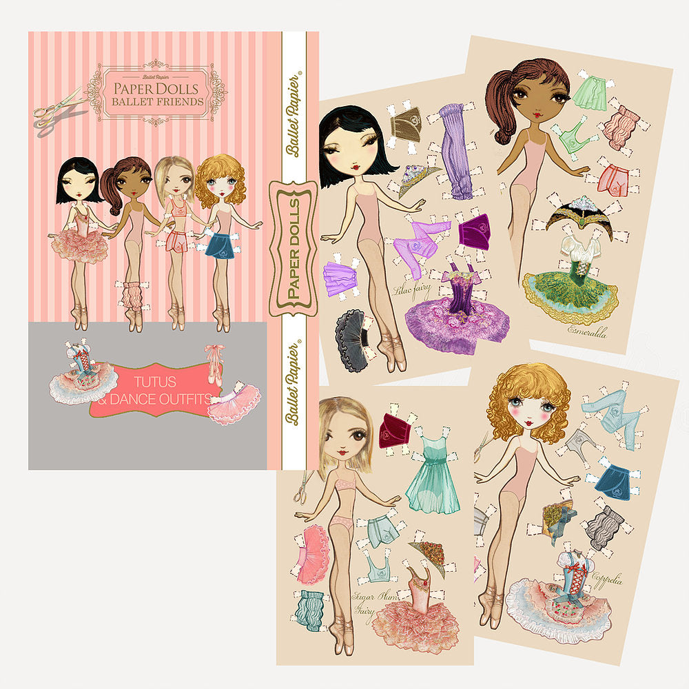 Paper Dolls and Their Ballet Friends Set