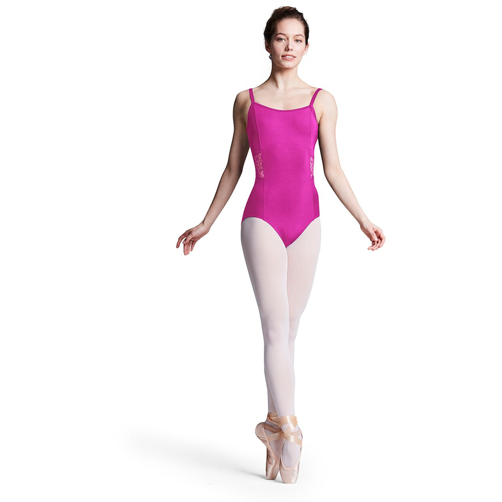 Princess Seam Leotard with Flower Mesh Cutout - Adult